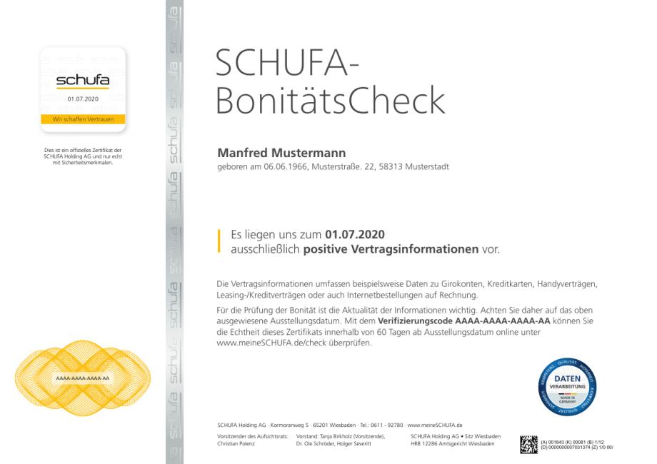 Schufa Bonitatscheck Sparkasse Geseke